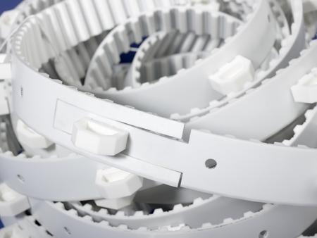 entanglement: a white entangled drive belt