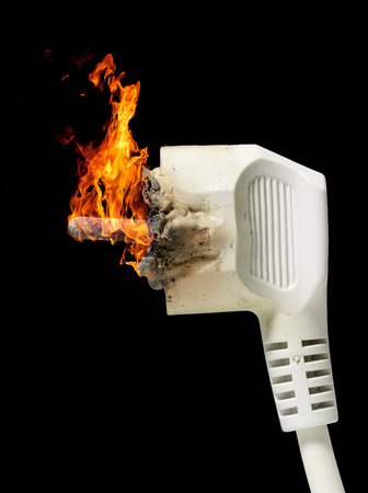 receptacle: burning white plug connector in black back