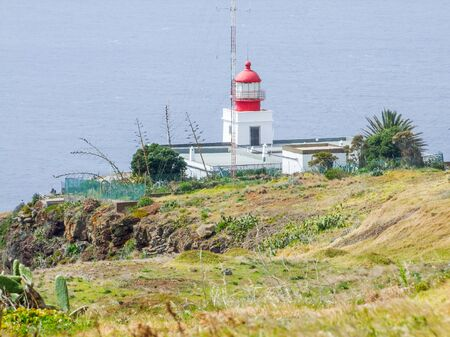named: lighthouse at a portuguese island named Madeira