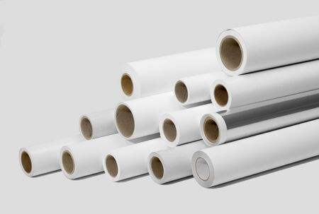 print media: various print media rolls for wide-format printers in light grey back