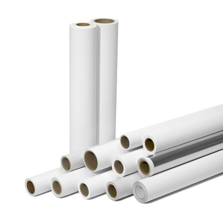 format: various print media rolls for wide-format printers in white back