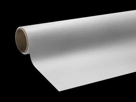print media: detail of a print media roll for wide-format printers in black back