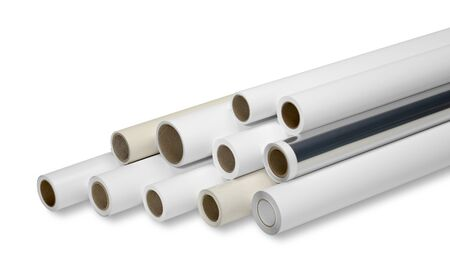 print media: various print media rolls for wide-format printers in white back