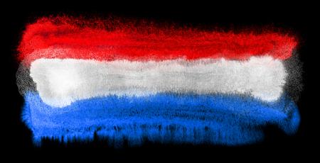 netherlands flag: watercolor illustration of the Netherlands flag