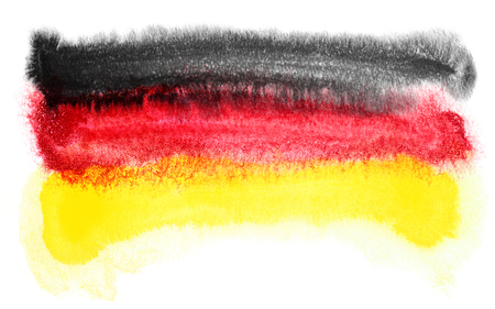 agile: watercolor illustration of the Germany flag