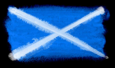 watercolor illustration of the Scotland flag Reklamní fotografie
