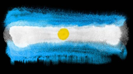 argentina flag: watercolor illustration of the Argentina flag