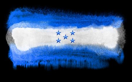 bandera honduras: ejemplo de la acuarela de la bandera de Honduras