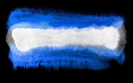 bandera de el salvador: ejemplo de la acuarela de la bandera de El Salvador
