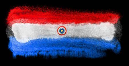 bandera de paraguay: ejemplo de la acuarela de la bandera de Paraguay Foto de archivo