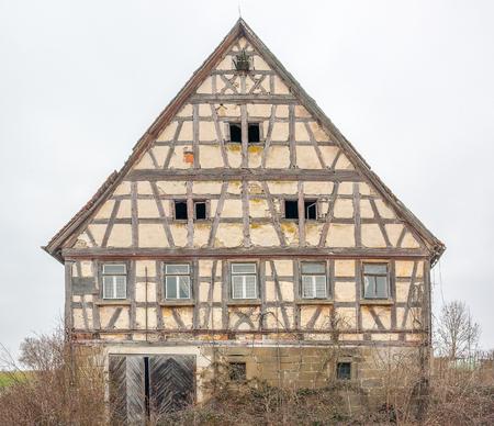rundown: a rundown old farmhouse in Southern Germany