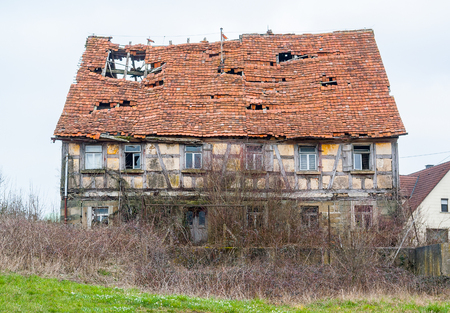 farmhouse: a rundown old farmhouse in Southern Germany