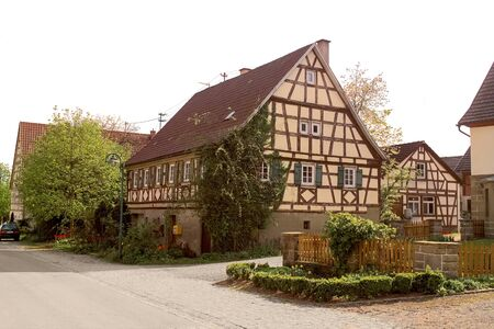 farmhouse: sunny picture of a historic farmhouse seen in Southern Germany
