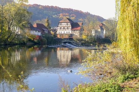 waterside: waterside village in Hohenlohe, a area in Southern germany