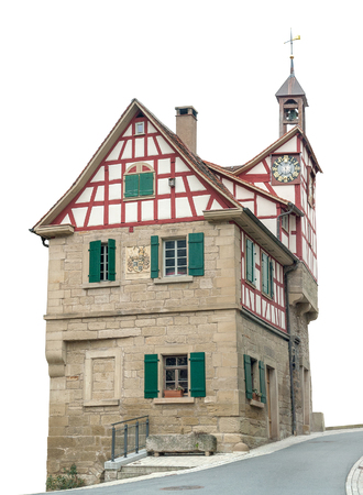 half timbered house: historic bakehouse in Forchtenberg, a small town in Hohenlohe located in Southern Germany