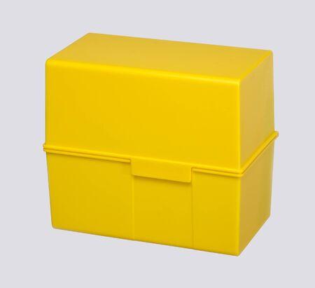 adresses: yellow address storage box in grey back