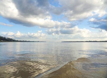 riparian: riparian scenery at Mekong river in Cambodia