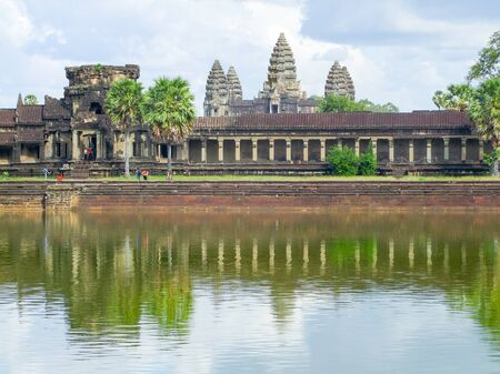 reflectance: part of a temple complex named Angkor Wat in Cambodia