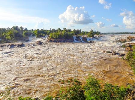 moistness: the Khone Phapheng Falls in southern Laos