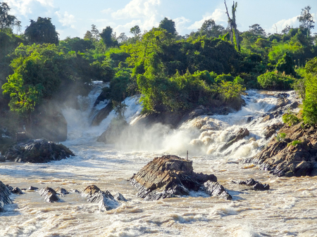 moistness: the Khone Phapheng Falls in southern Laos