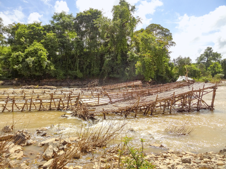 mekong: waterside scenery at Mekong river in Laos Stock Photo