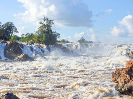 cataract falls: the Khone Phapheng Falls in southern Laos