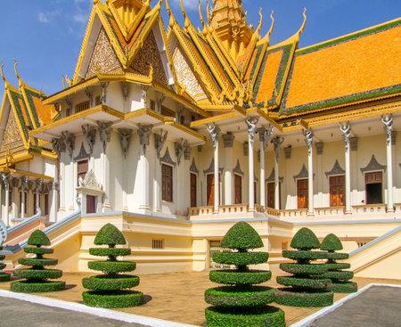 phnom penh: scenery around the Royal Palace in Phnom Penh located in Cambodia