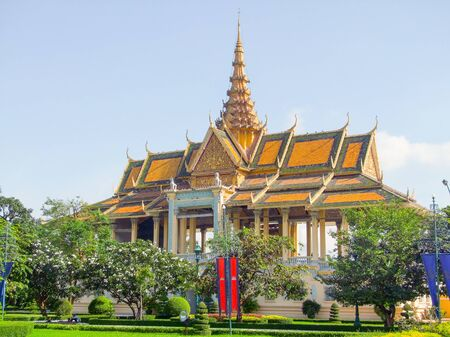 penh: scenery around the Royal Palace in Phnom Penh located in Cambodia