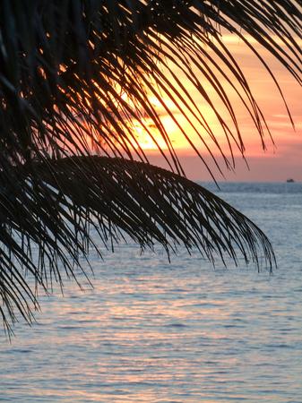 wavily: sundown scenery around a island named Koh Rong Samloem located in Cambodia Stock Photo