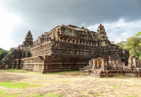 angkor thom: Temple area named Baphuon in Angkor Thom located in Cambodia Editorial