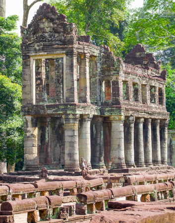 khan: detail of the Preah Khan temple in Angkor located in Cambodia Stock Photo