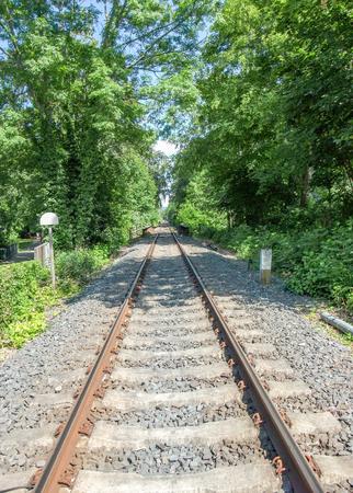 railtrack: sunny railtrack scenery in Southern Germany