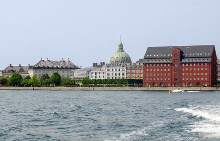 riparian: waterside scenery in Copenhagen, the capital city of Denmark Stock Photo