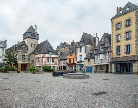 brittany: idyllic city named Quimper in Brittany, France