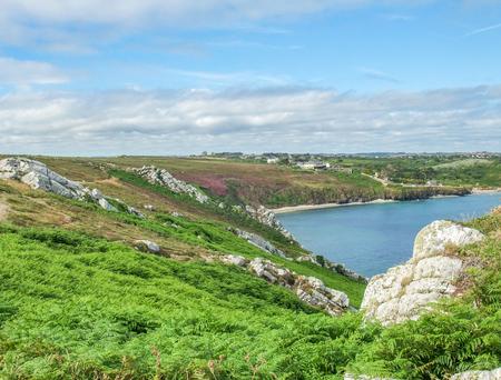 coastal scenery at the Crozon peninsula in Brittany, France Stock Photo