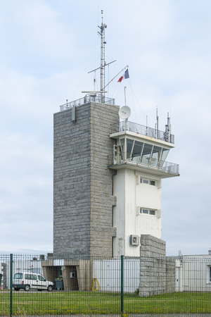 detecting: coastal observation tower around Pointe de Pen-Hir in Brittany, France