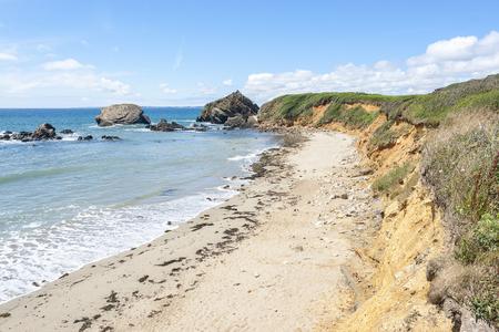 coastal scenery at the crozon peninsula in Brittany