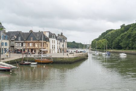 scenery in a french city named Auray located in the Morbihan department in Brittany Editorial