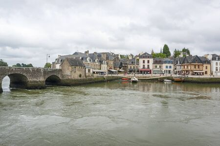 riparian: scenery in a french city named Auray located in the Morbihan department in Brittany Editorial