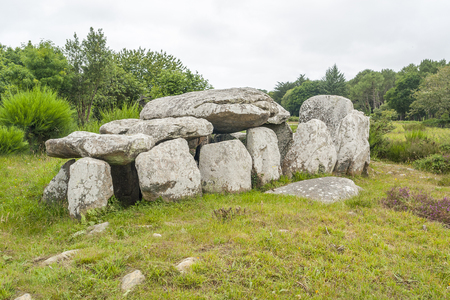 neolithic: a dolmen near Carnac in Brittany, France