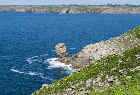 coastal scenery around Pointe du Raz, a promontory in Brittany, France