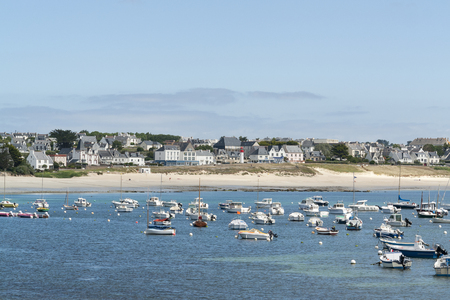 commune: coastal scenery around Audierne, a commune in the Finistere department of Brittany in France