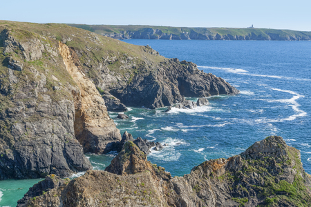 coastal scenery around Pointe du Van, a promontory in Brittany, France