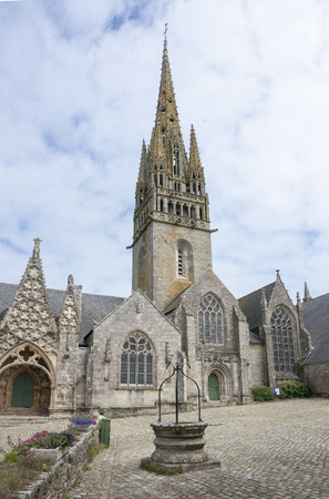 commune: The Monastery Church of Notre-Dame de Roscudon in Pont-Croix, a commune in the Finistere department in Britttany, France