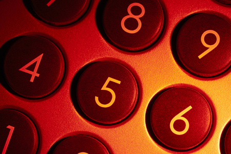 dial pad: full frame red illuminated numeric keypad detail