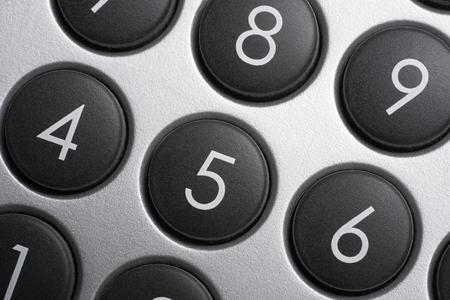 teclado numerico: fotograma completo detalle de teclado numérico Foto de archivo