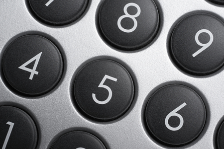 teclado numérico: full frame numeric keypad detail