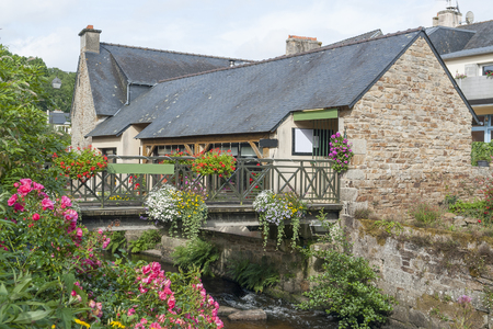 commune: Idyllic scenery at Pont-Aven, a commune in the Finistere department of Brittany in northwestern France.