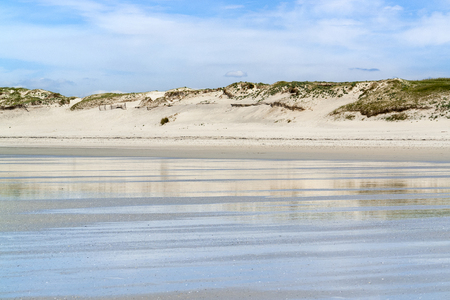 reflectance: sunny beach scenery around Penmarch in Brittany