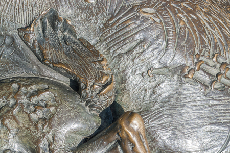 full frame abstract bronze surface detail